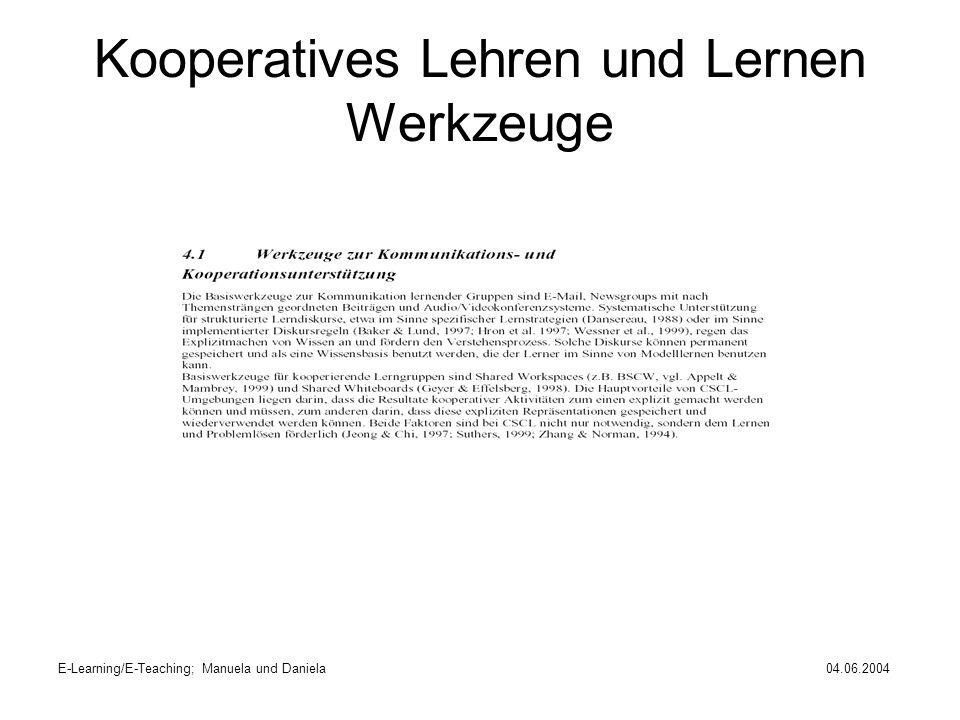 Kooperatives Lehren und Lernen Werkzeuge