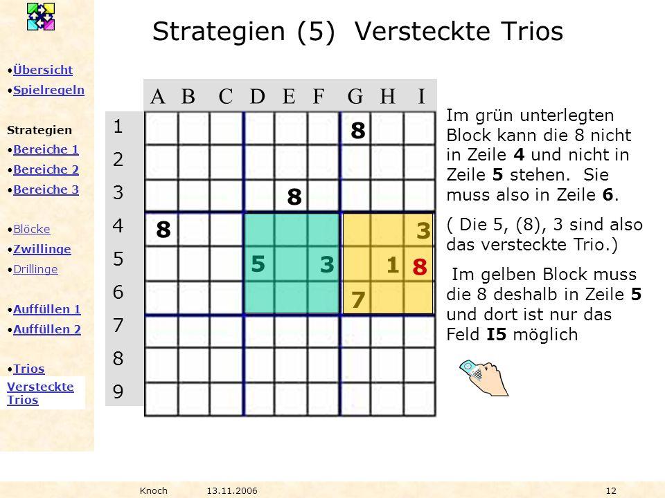 Strategien (5) Versteckte Trios