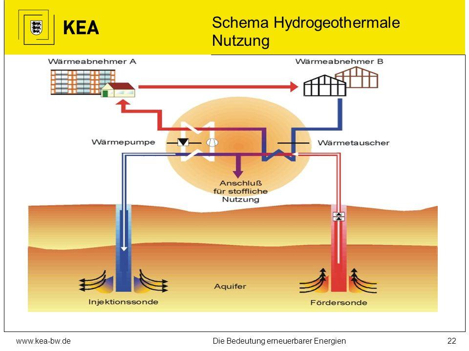 Schema Hydrogeothermale Nutzung
