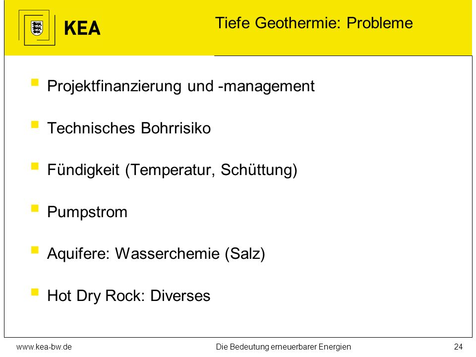 Tiefe Geothermie: Probleme