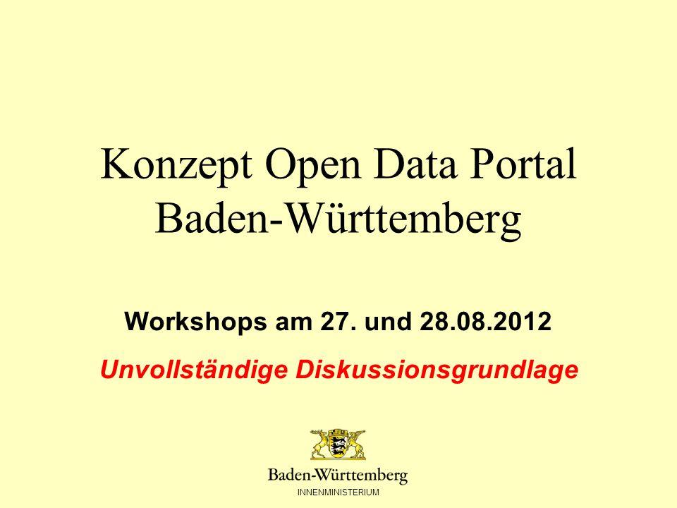 Konzept Open Data Portal Baden-Württemberg