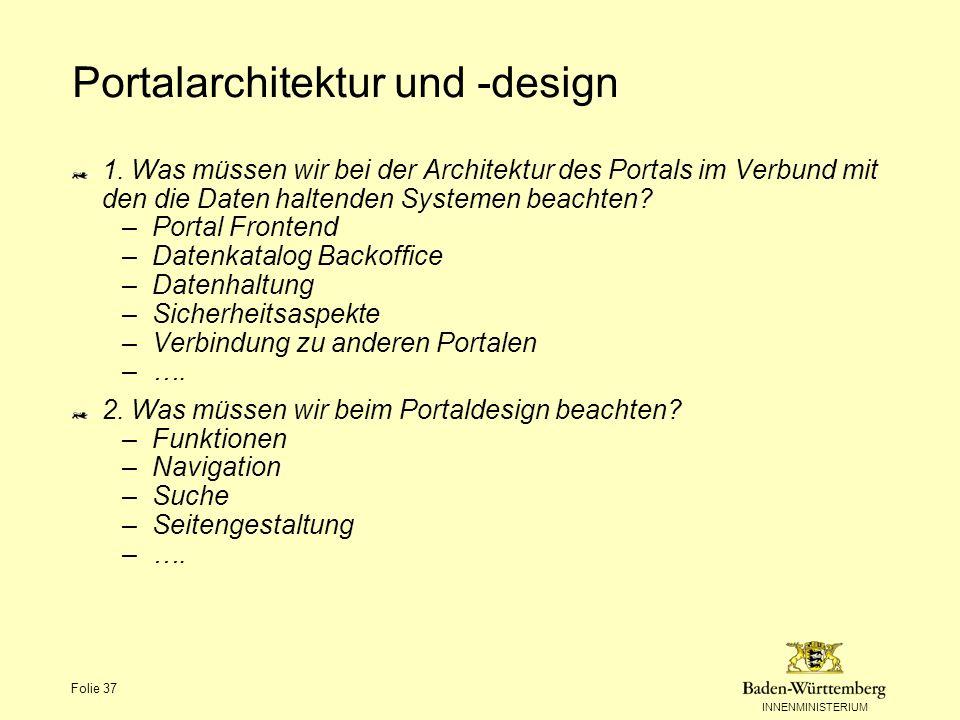 Portalarchitektur und -design