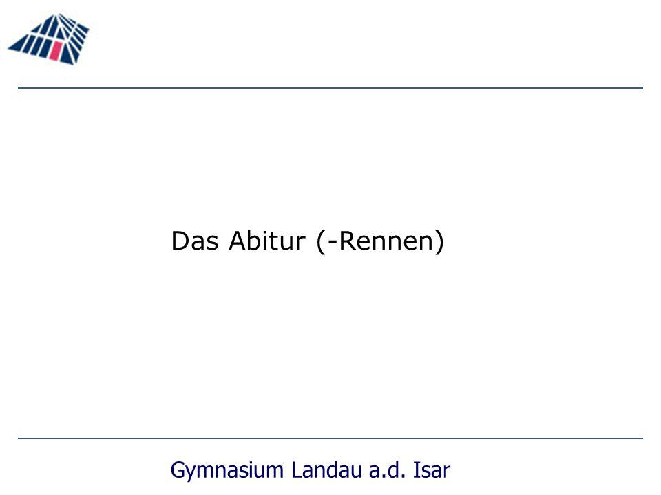 Das Abitur (-Rennen)