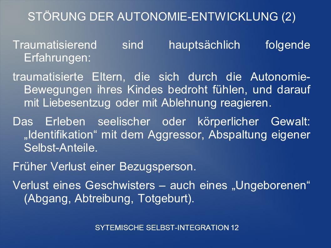 SYTEMISCHE SELBST-INTEGRATION 12
