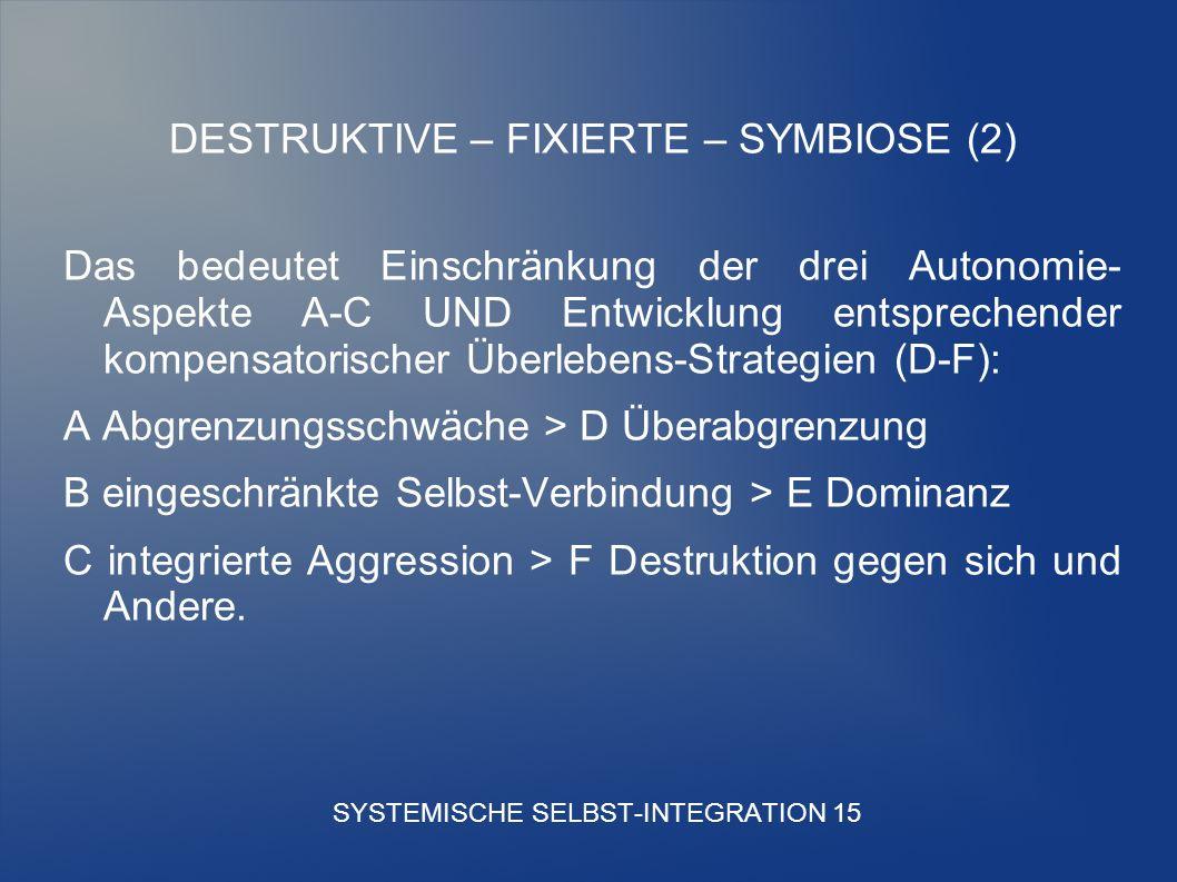SYSTEMISCHE SELBST-INTEGRATION 15
