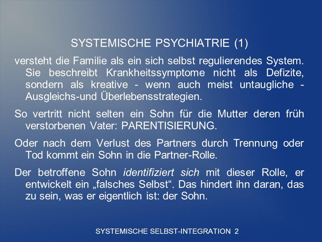SYSTEMISCHE SELBST-INTEGRATION 2