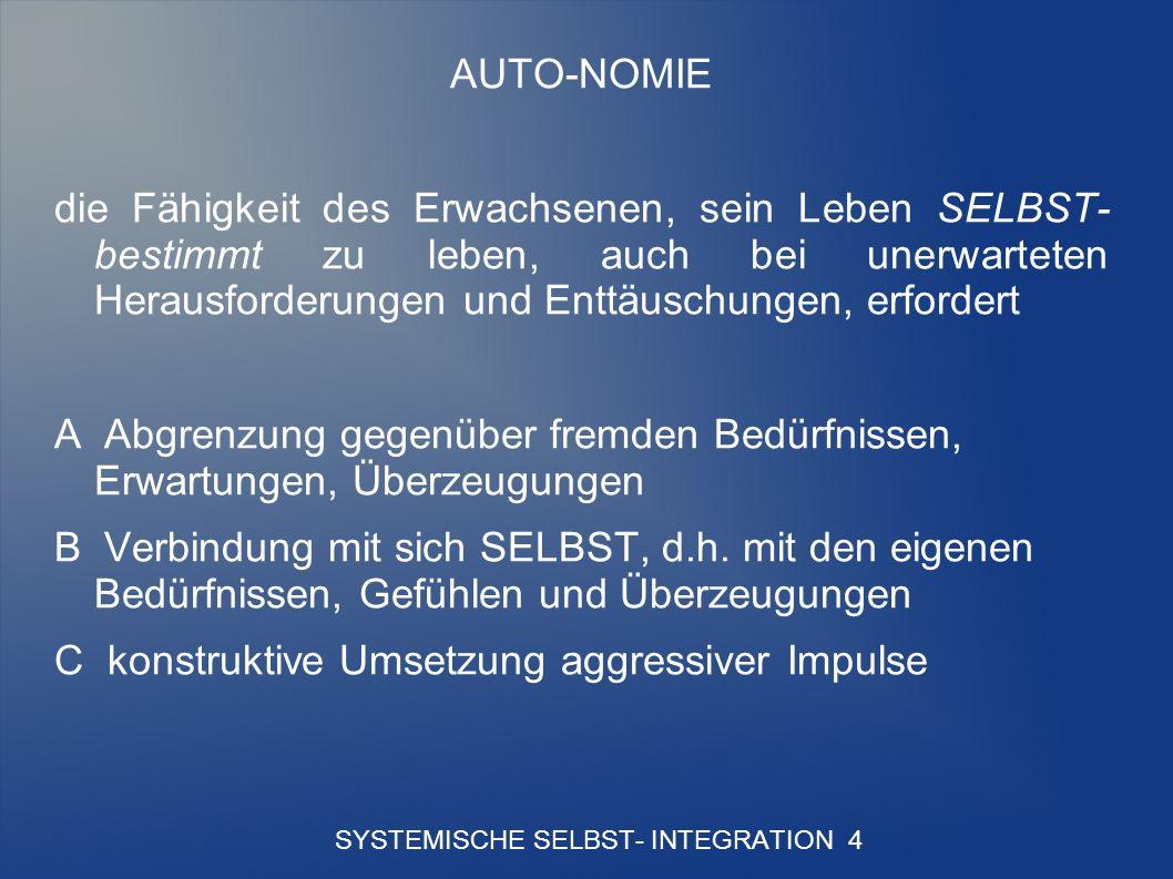 SYSTEMISCHE SELBST- INTEGRATION 4