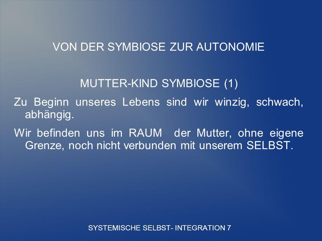 SYSTEMISCHE SELBST- INTEGRATION 7