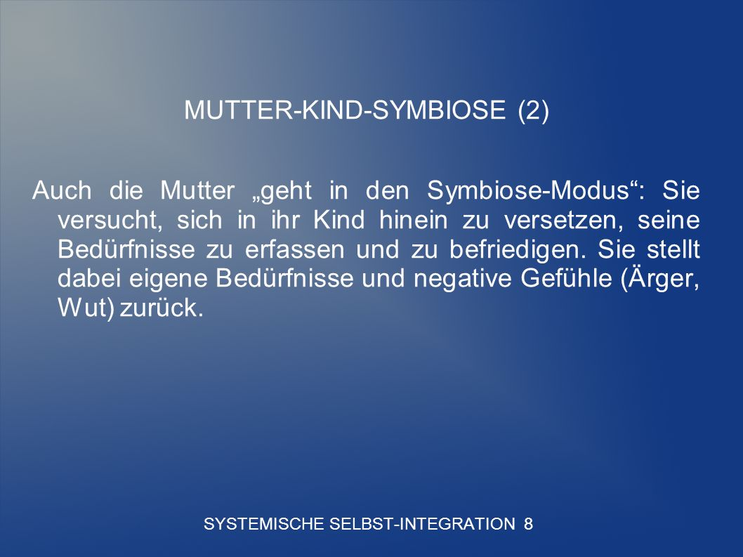 SYSTEMISCHE SELBST-INTEGRATION 8