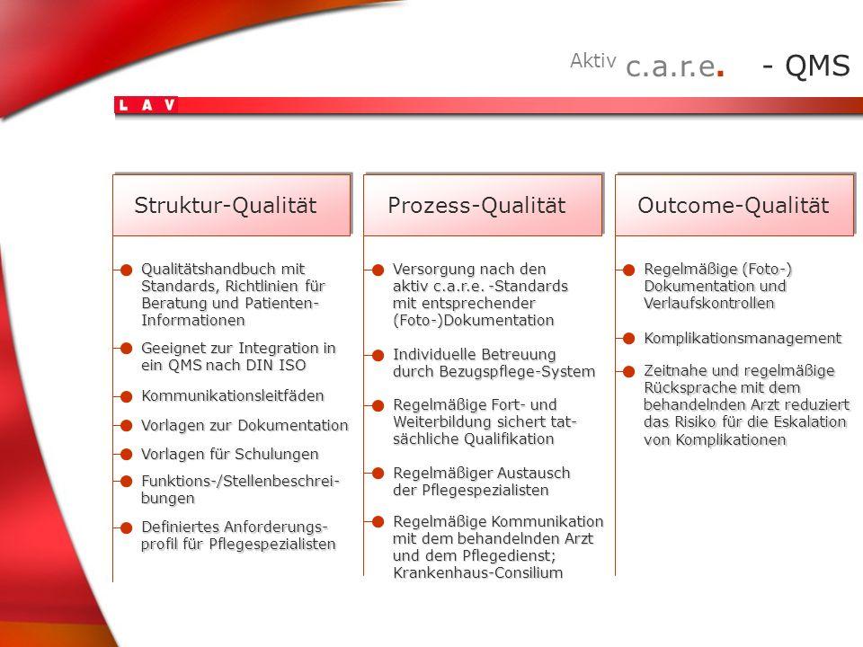 Aktiv c.a.r.e. - QMS Struktur-Qualität Prozess-Qualität