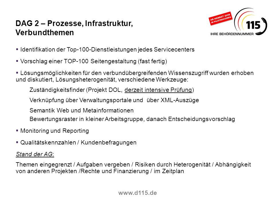 DAG 2 – Prozesse, Infrastruktur, Verbundthemen