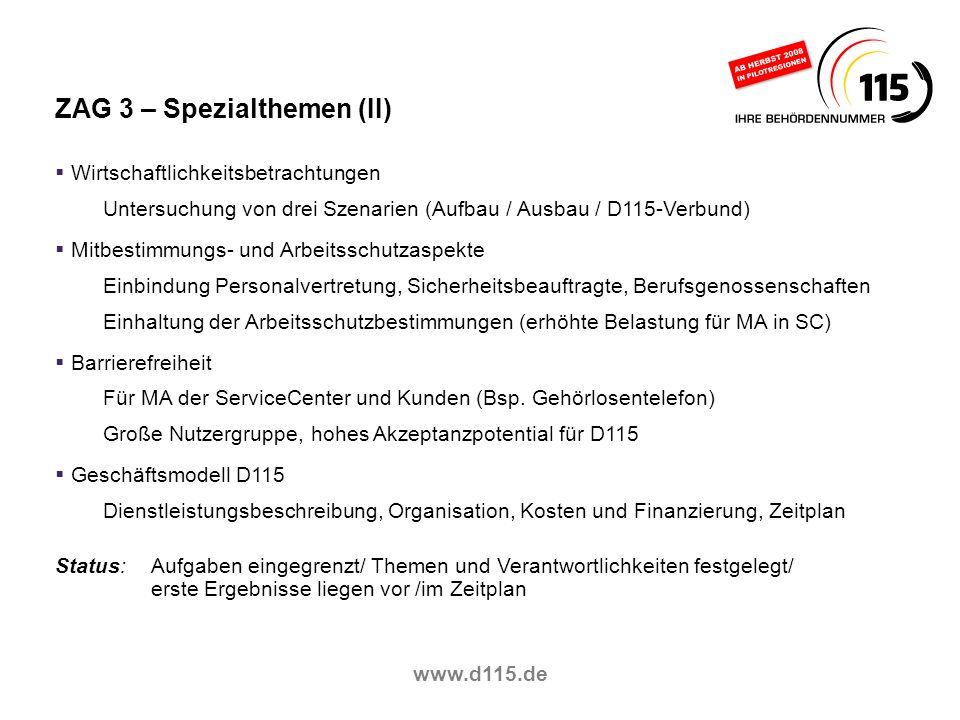 ZAG 3 – Spezialthemen (II)