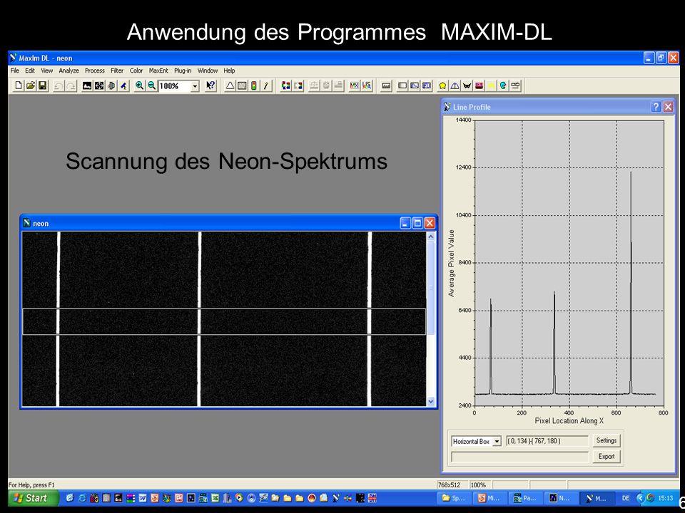 Anwendung des Programmes MAXIM-DL