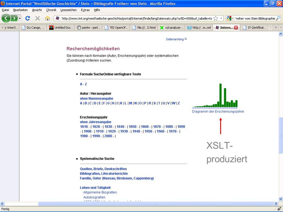 XSLT- produziert
