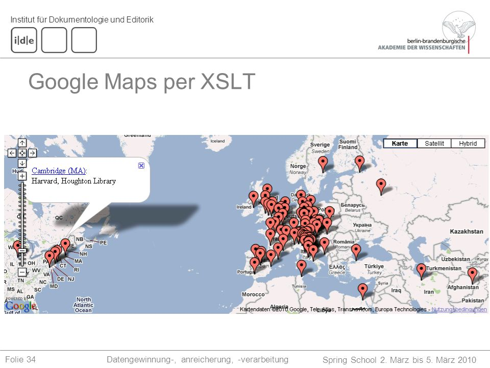 Google Maps per XSLT