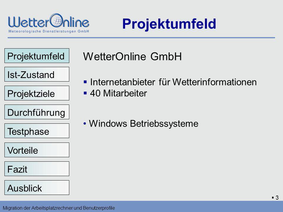 Projektumfeld WetterOnline GmbH Projektumfeld