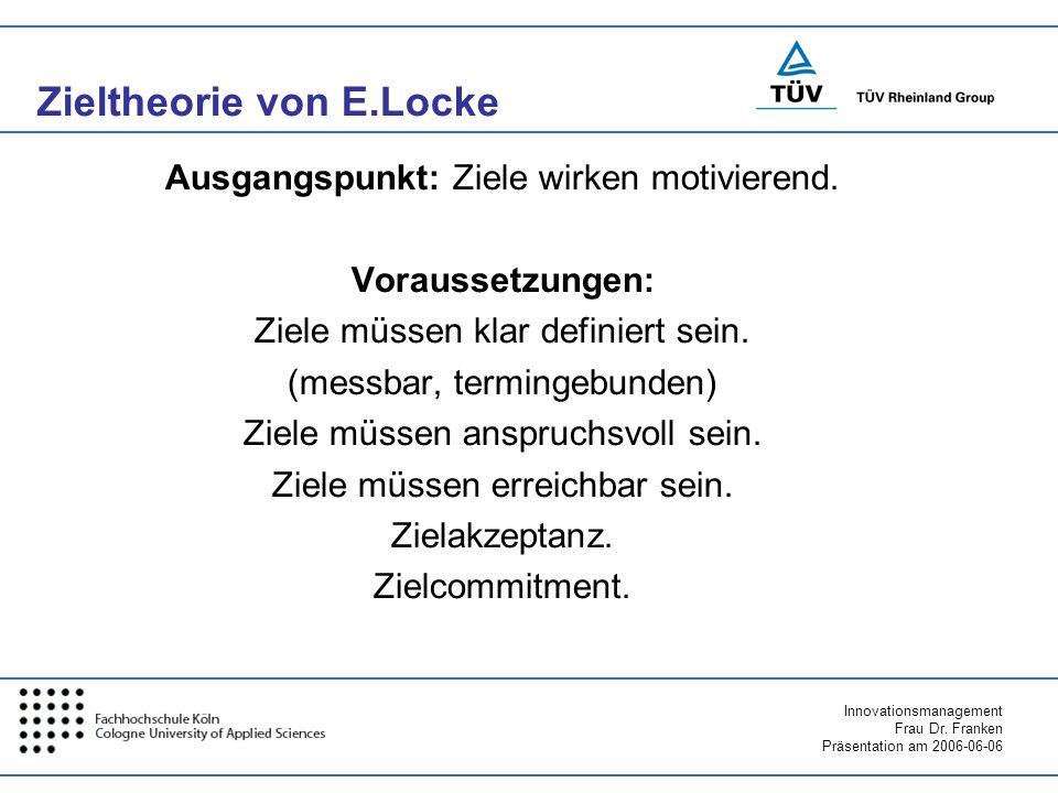 Zieltheorie von E.Locke