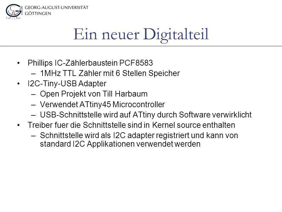 Ein neuer Digitalteil Phillips IC-Zählerbaustein PCF8583