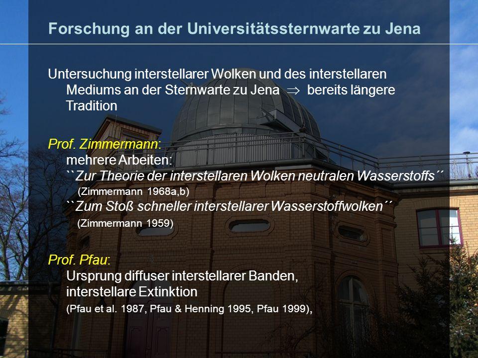 Forschung an der Universitätssternwarte zu Jena