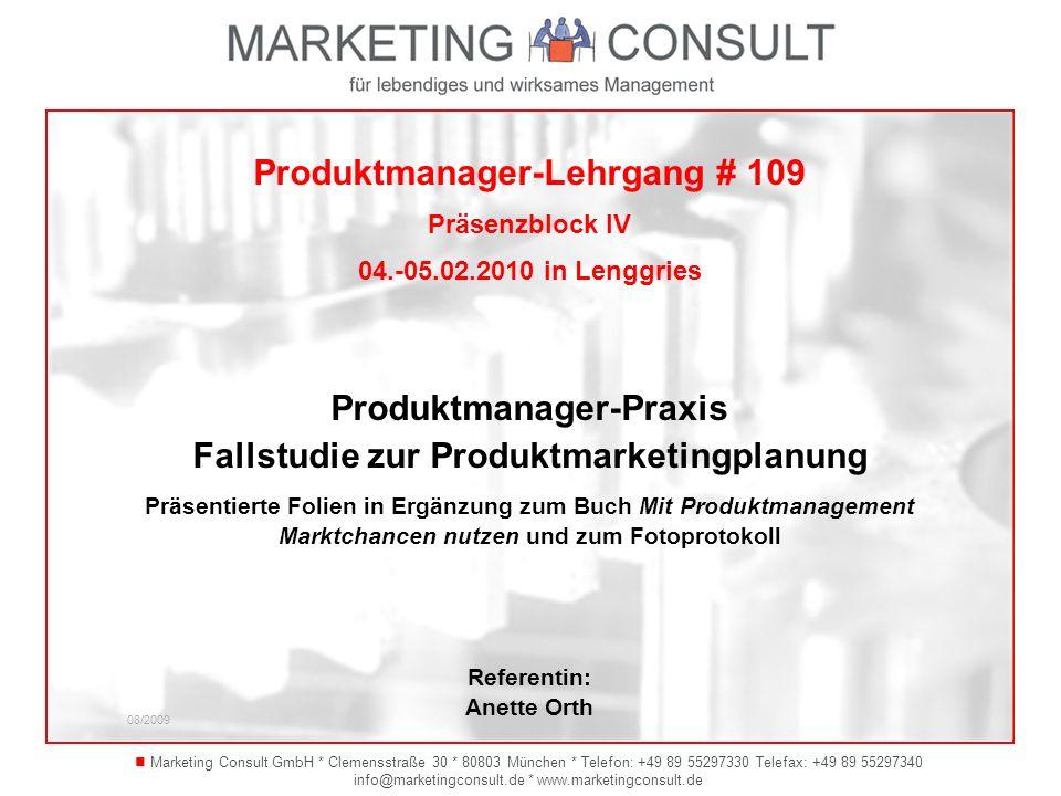 Produktmanager-Lehrgang # 109