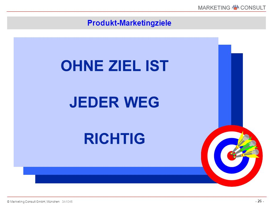 Produkt-Marketingziele