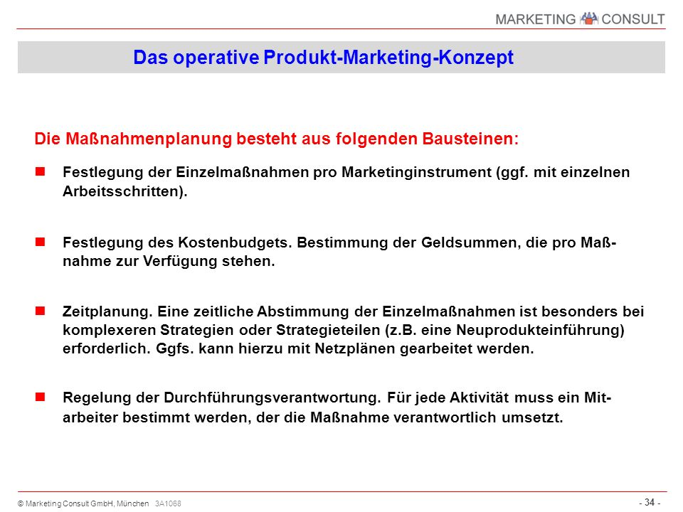 Das operative Produkt-Marketing-Konzept