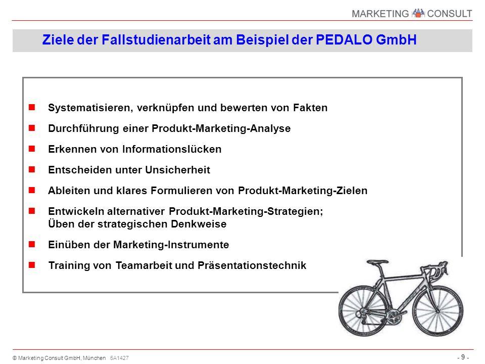 Ziele der Fallstudienarbeit am Beispiel der PEDALO GmbH