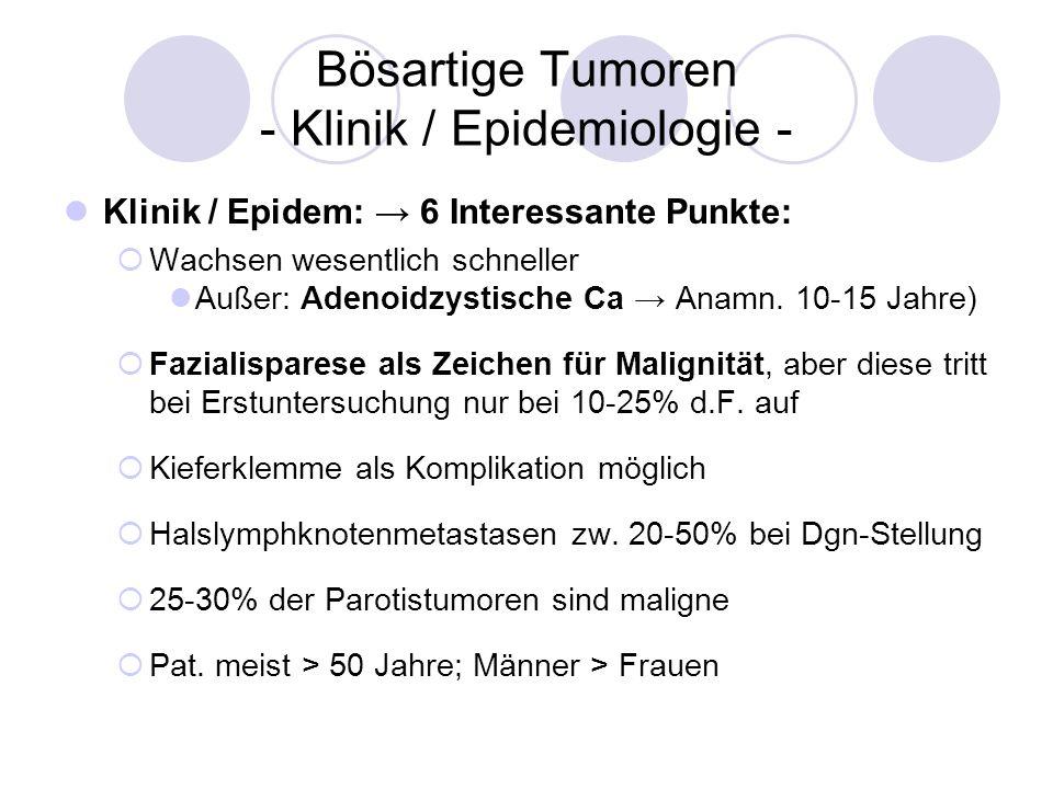 Bösartige Tumoren - Klinik / Epidemiologie -