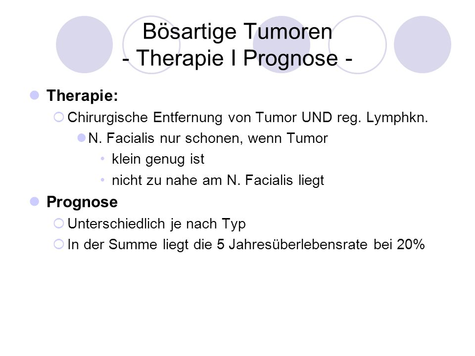 Bösartige Tumoren - Therapie I Prognose -
