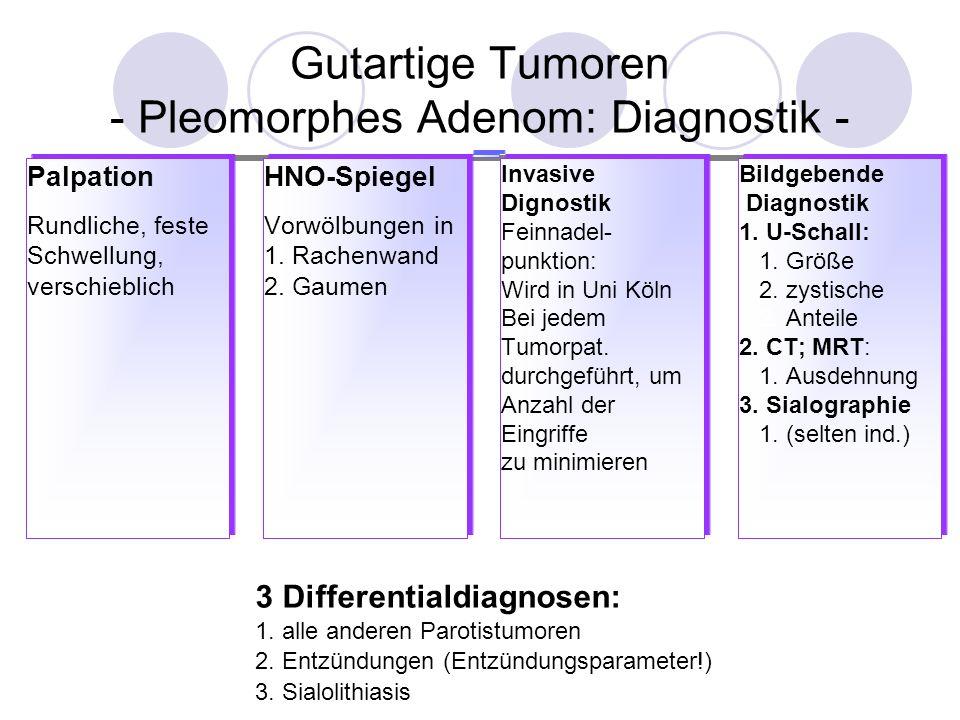 Gutartige Tumoren - Pleomorphes Adenom: Diagnostik -