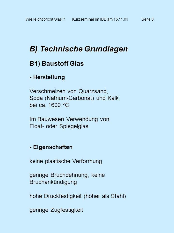Wie leicht bricht Glas Kurzseminar im IBB am 15.11.01 Seite 8