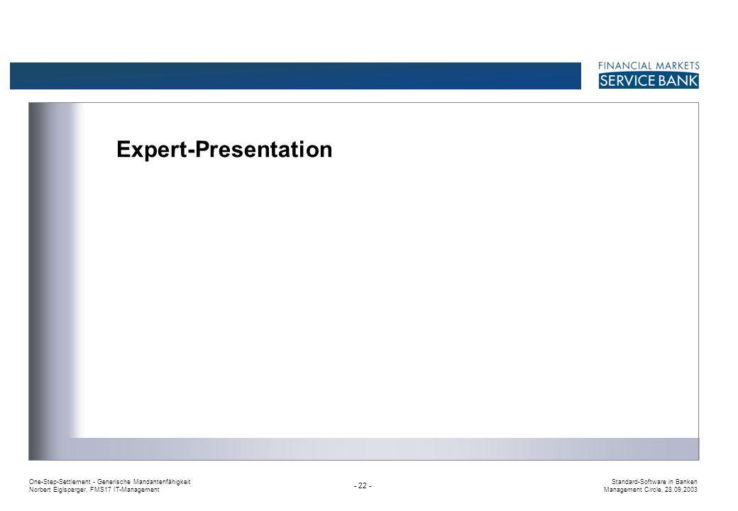 Expert-Presentation
