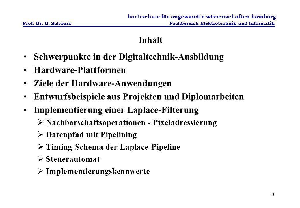 Schwerpunkte in der Digitaltechnik-Ausbildung Hardware-Plattformen