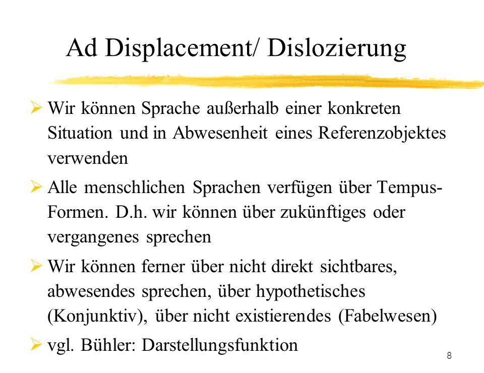 Ad Displacement/ Dislozierung