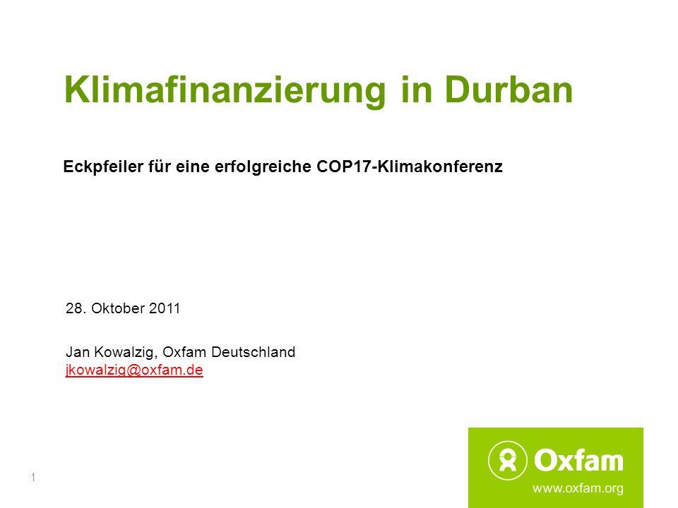 Klimafinanzierung in Durban