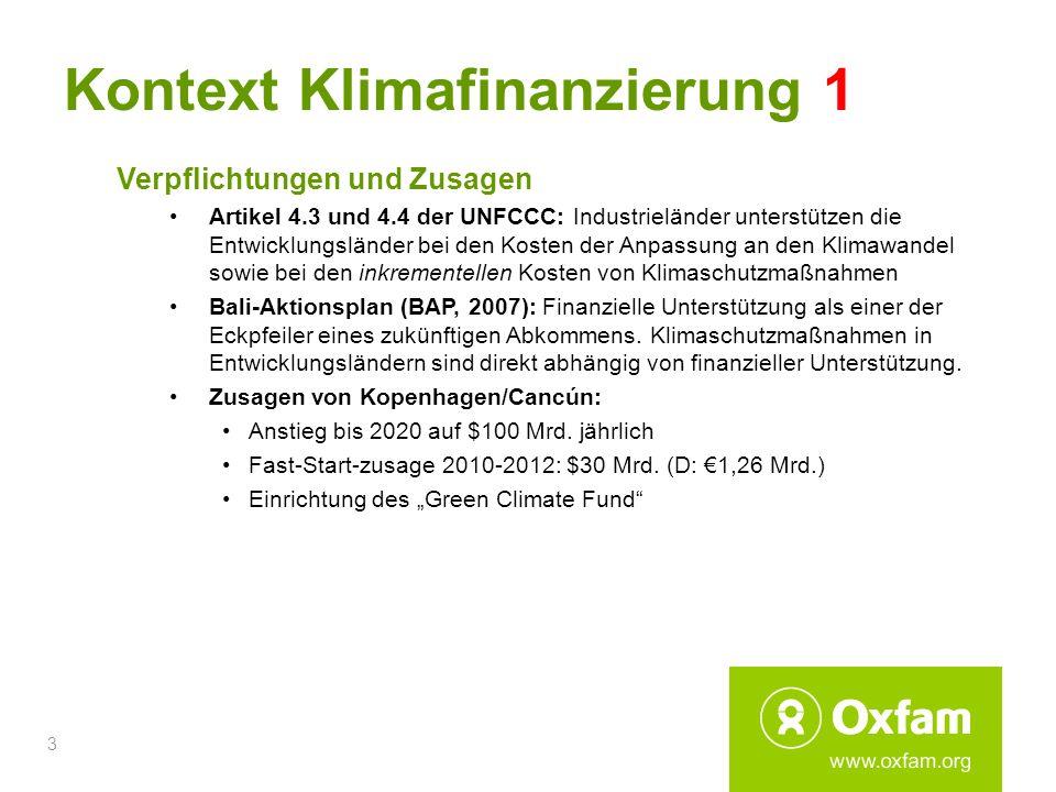 Kontext Klimafinanzierung 1
