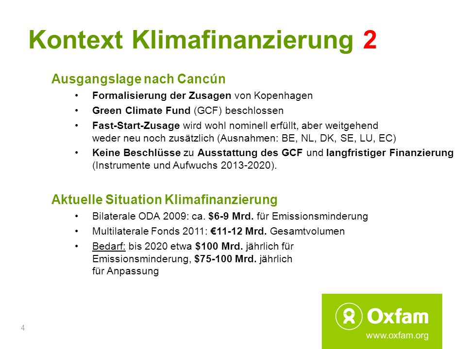 Kontext Klimafinanzierung 2
