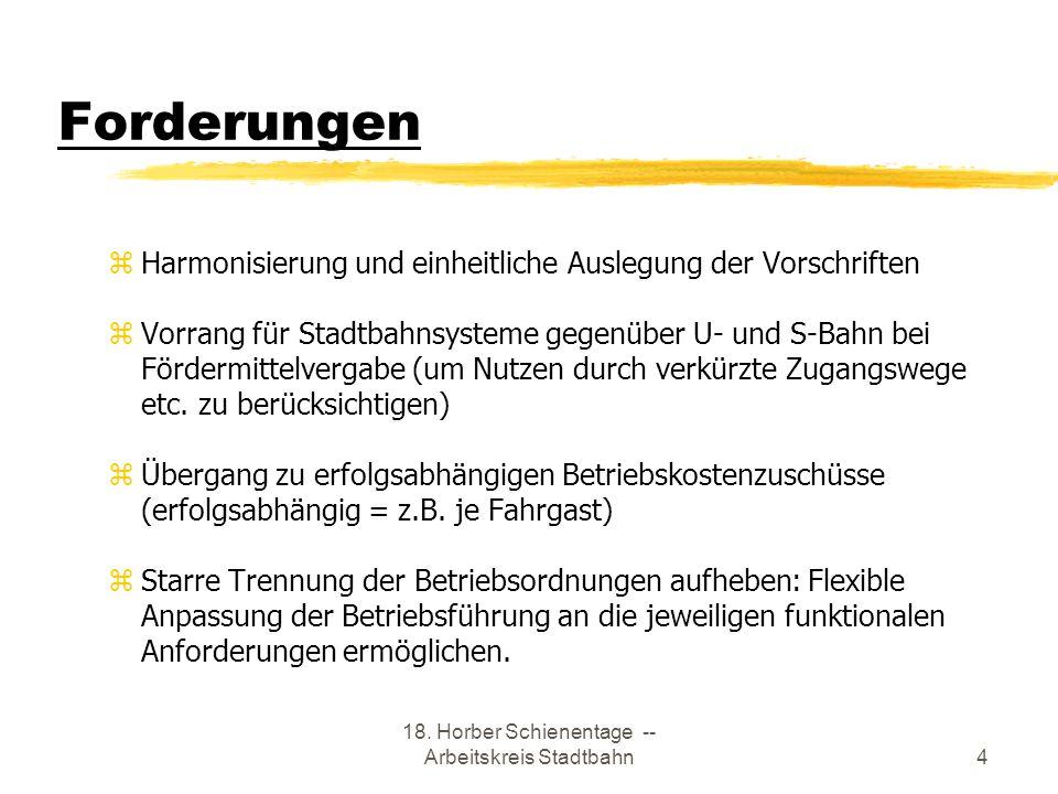 18. Horber Schienentage -- Arbeitskreis Stadtbahn
