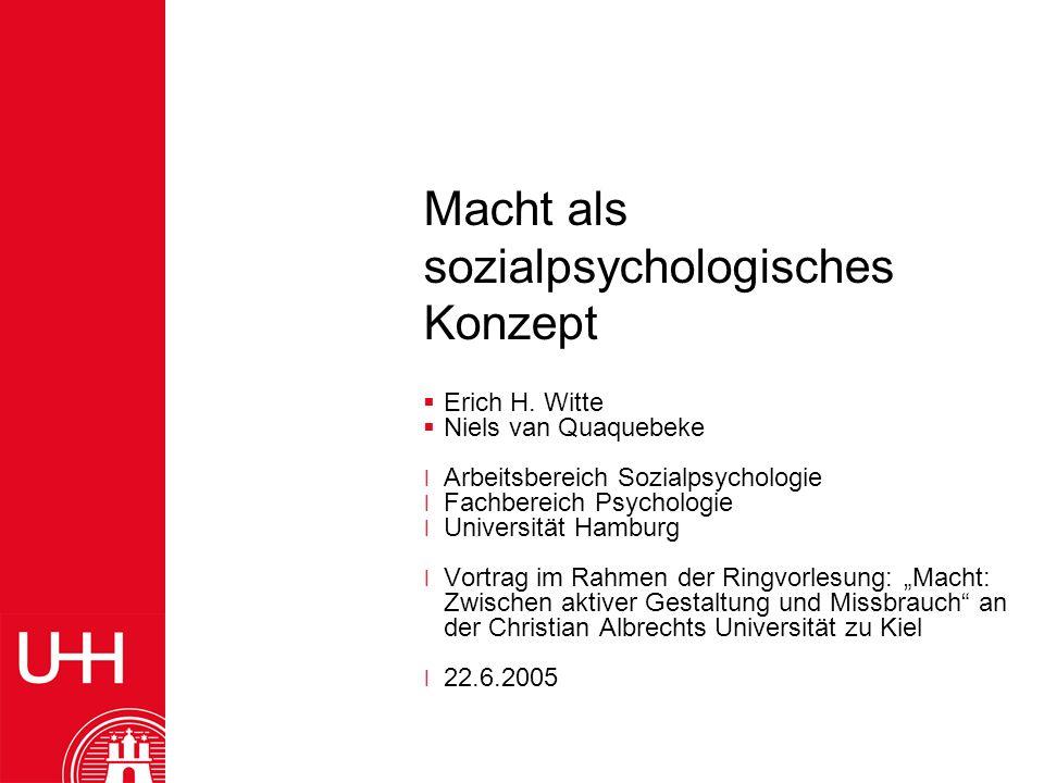 Macht als sozialpsychologisches Konzept