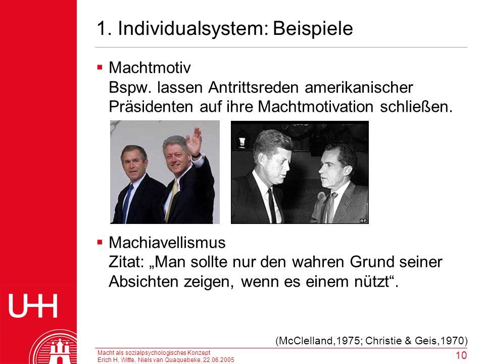 1. Individualsystem: Beispiele