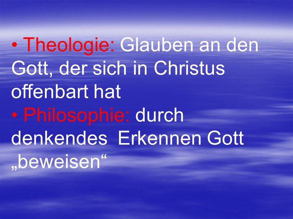 Theologie: Glauben an den Gott, der sich in Christus offenbart hat