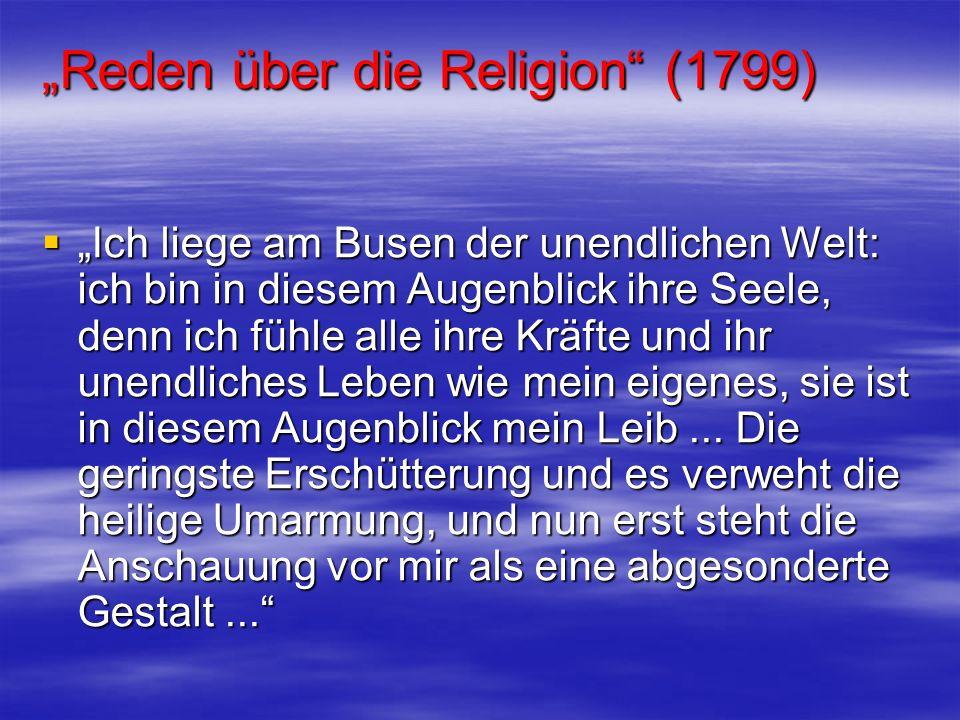 """""""Reden über die Religion (1799)"""