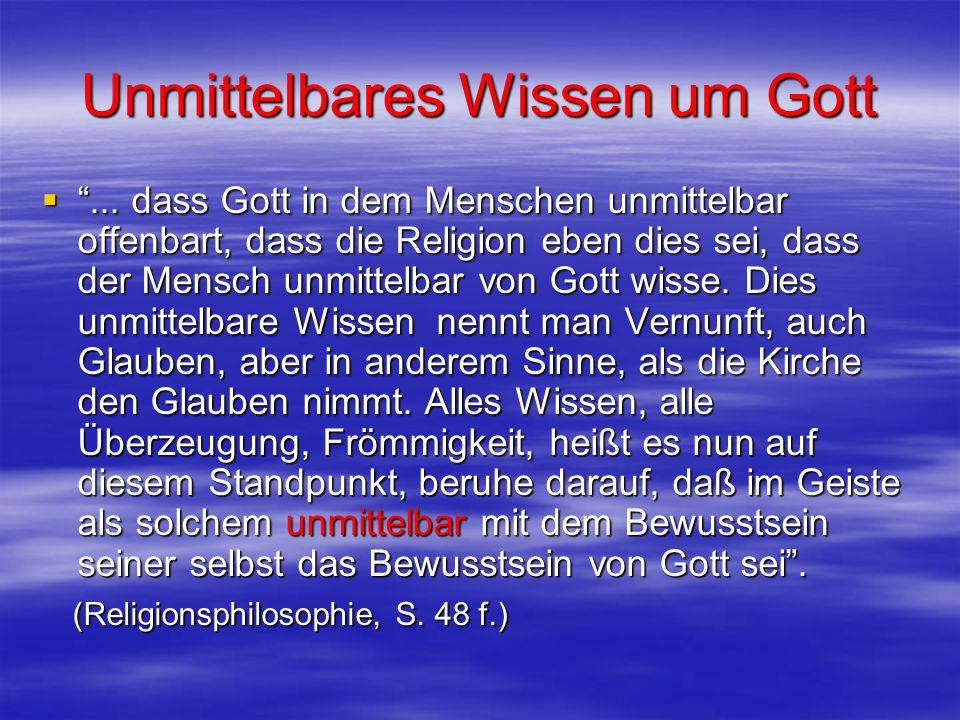 Unmittelbares Wissen um Gott