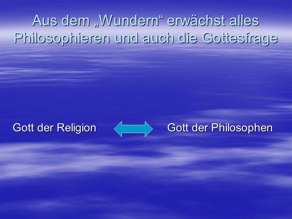 """Aus dem """"Wundern erwächst alles Philosophieren und auch die Gottesfrage"""
