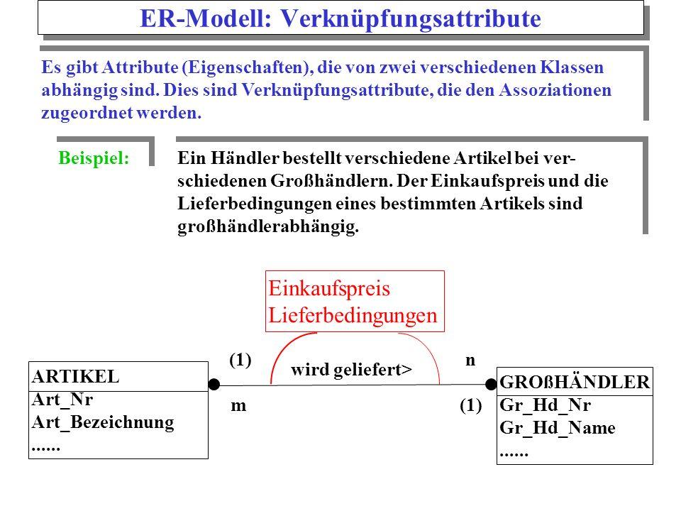ER-Modell: Verknüpfungsattribute