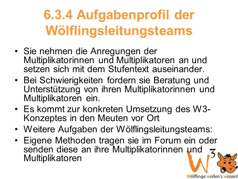6.3.4 Aufgabenprofil der Wölflingsleitungsteams