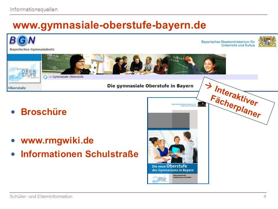 www.gymnasiale-oberstufe-bayern.de Broschüre www.rmgwiki.de