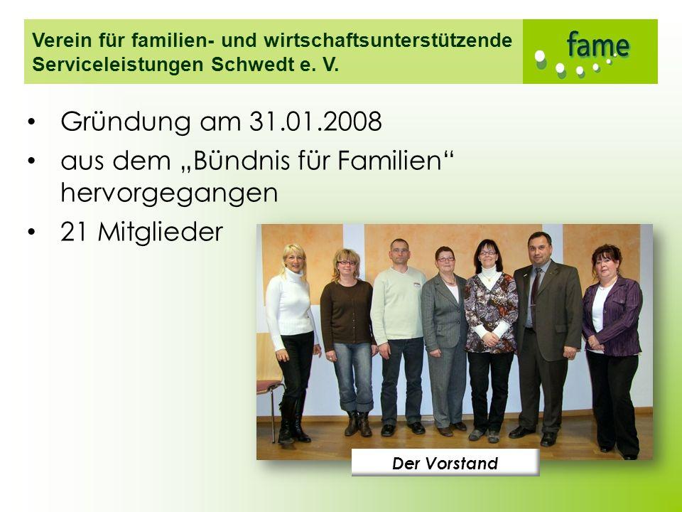 """aus dem """"Bündnis für Familien hervorgegangen 21 Mitglieder"""