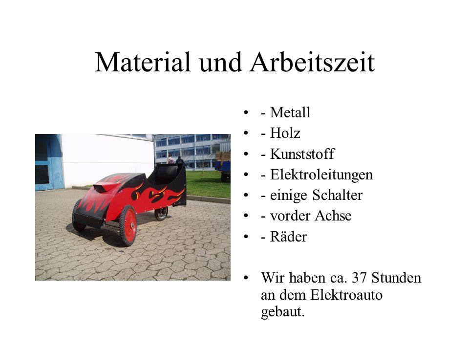 Material und Arbeitszeit