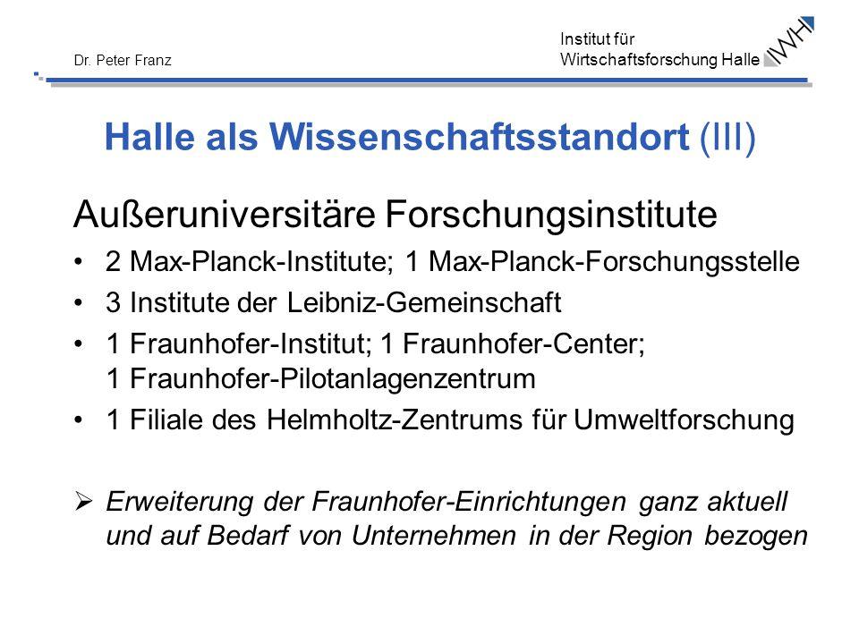 Halle als Wissenschaftsstandort (III)
